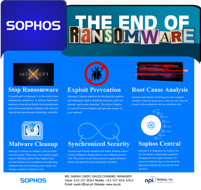 SOPHOS - THE END OF RANSOMWARE - EDM